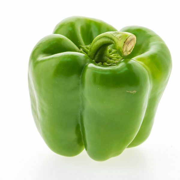 Colorful bell pepper vegetable isolated on white background